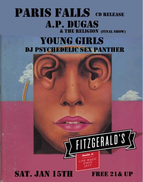 Paris Falls CD release show, 1.15.11, Fitzgerald's, Houston, TX