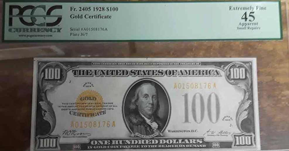 Buy/Sell U.S. Gold Certificates – Sell Coins Houston   713-521-1748 ...