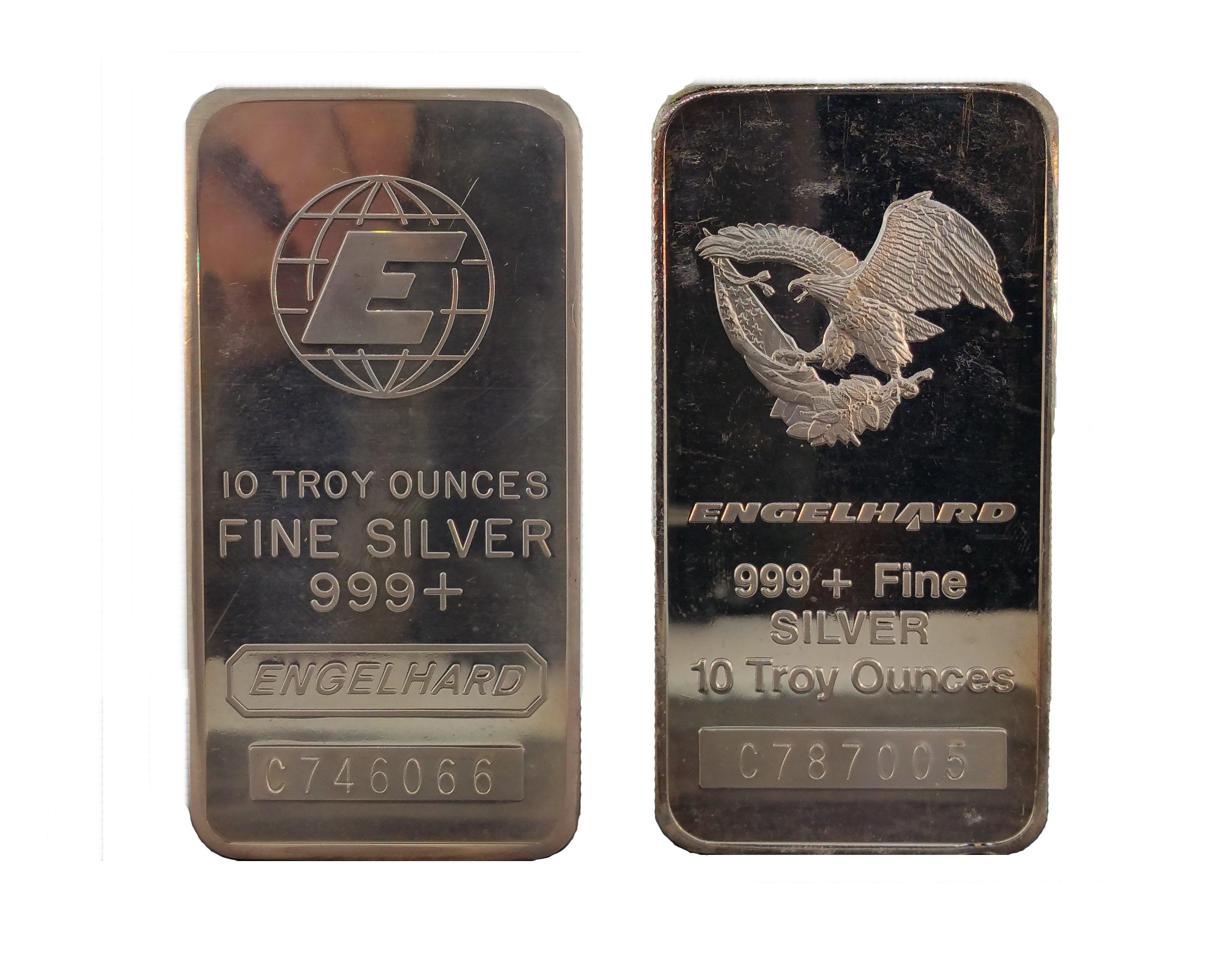 Engelhard 10 Ounce Silver Bar Sell Coins Houston 713 521 1748 Liberty Walking 1oz