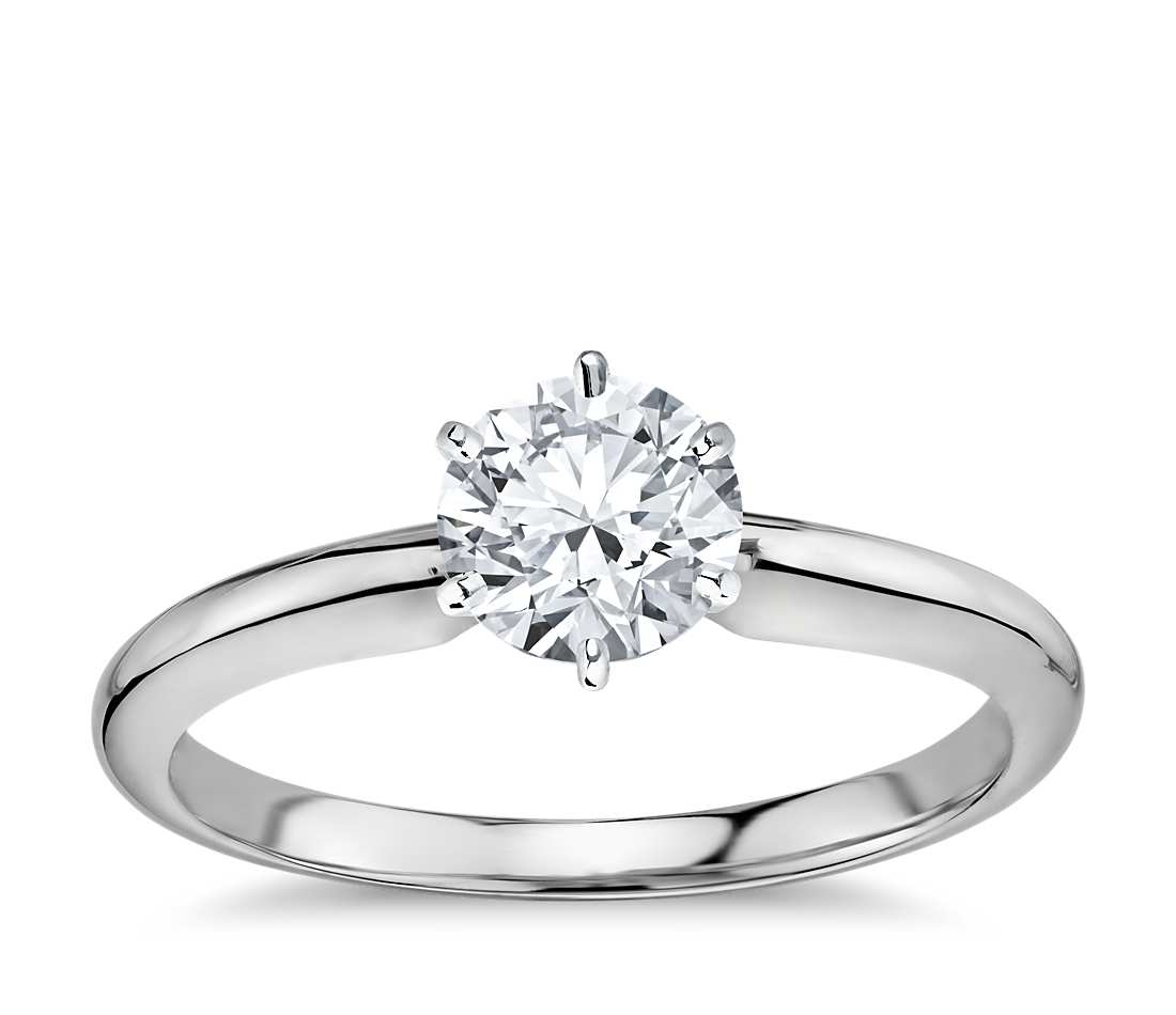 solitaire 6 prong setting