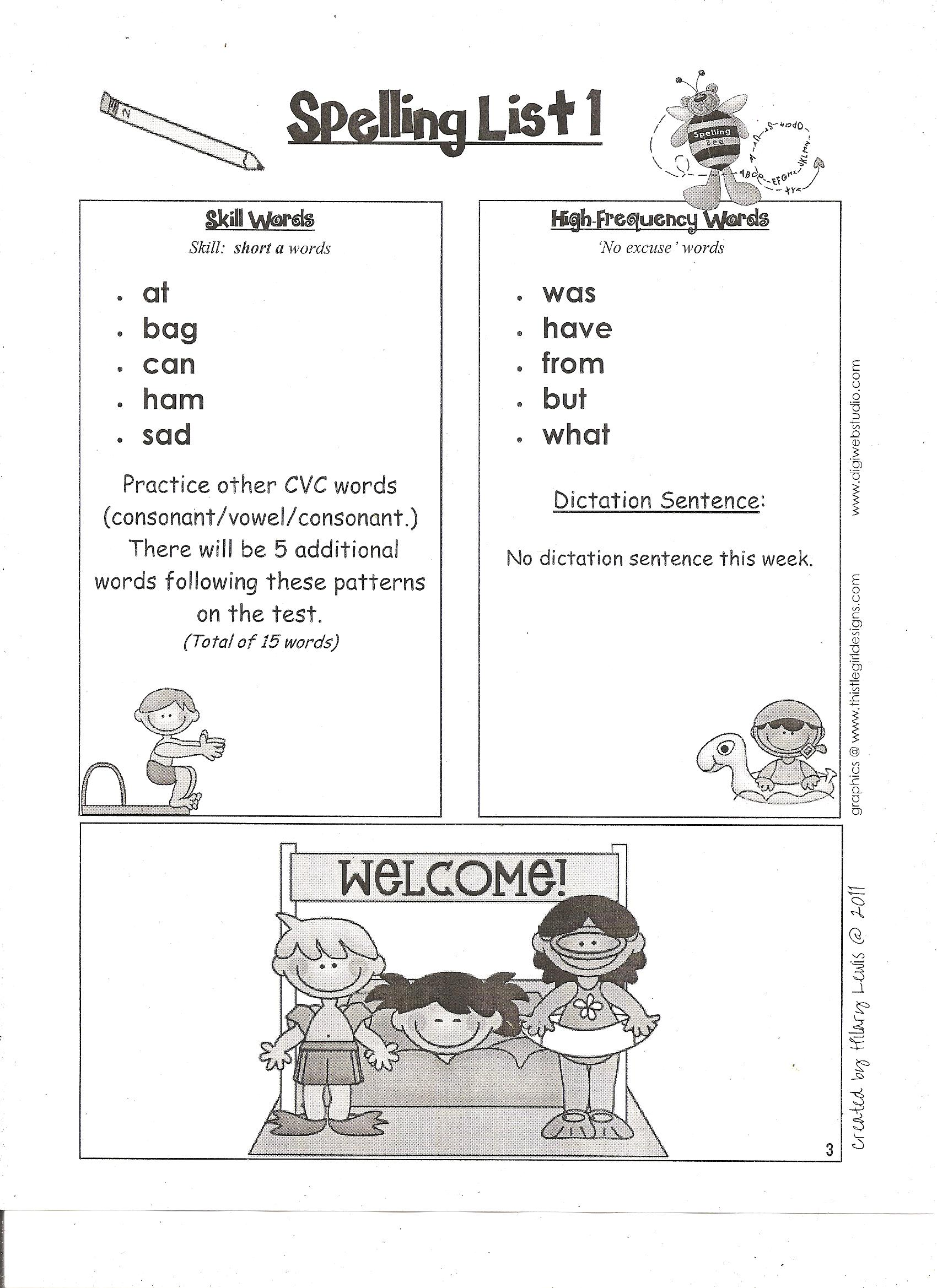 Lear, Jennifer / Spelling Lists