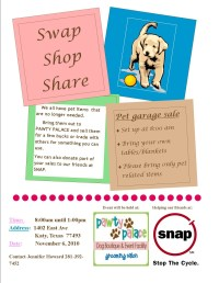 Swap, Shop and Share at Pawty Palaces Pet Garage Sale ...