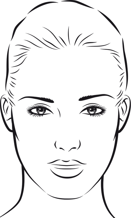 Blank Mac Face Charts Printable Sketch Coloring Page
