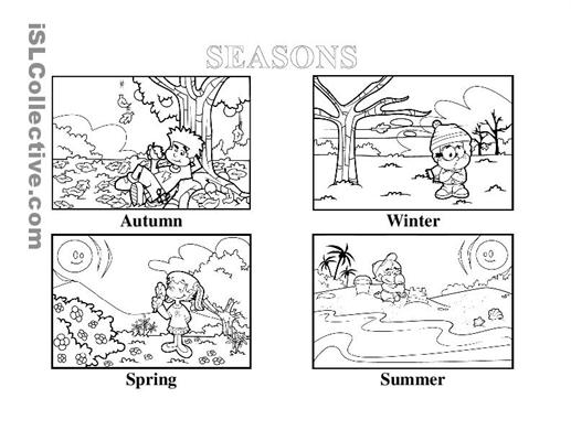 Seasons Worksheets For Kindergarten Free