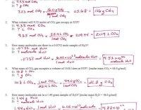 Mole Conversion Worksheet Answers - Kidz Activities