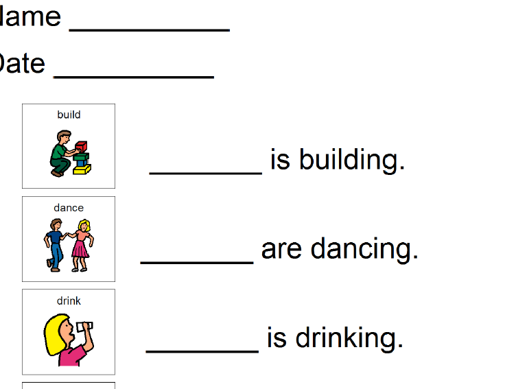 He She It They Worksheets For Kids