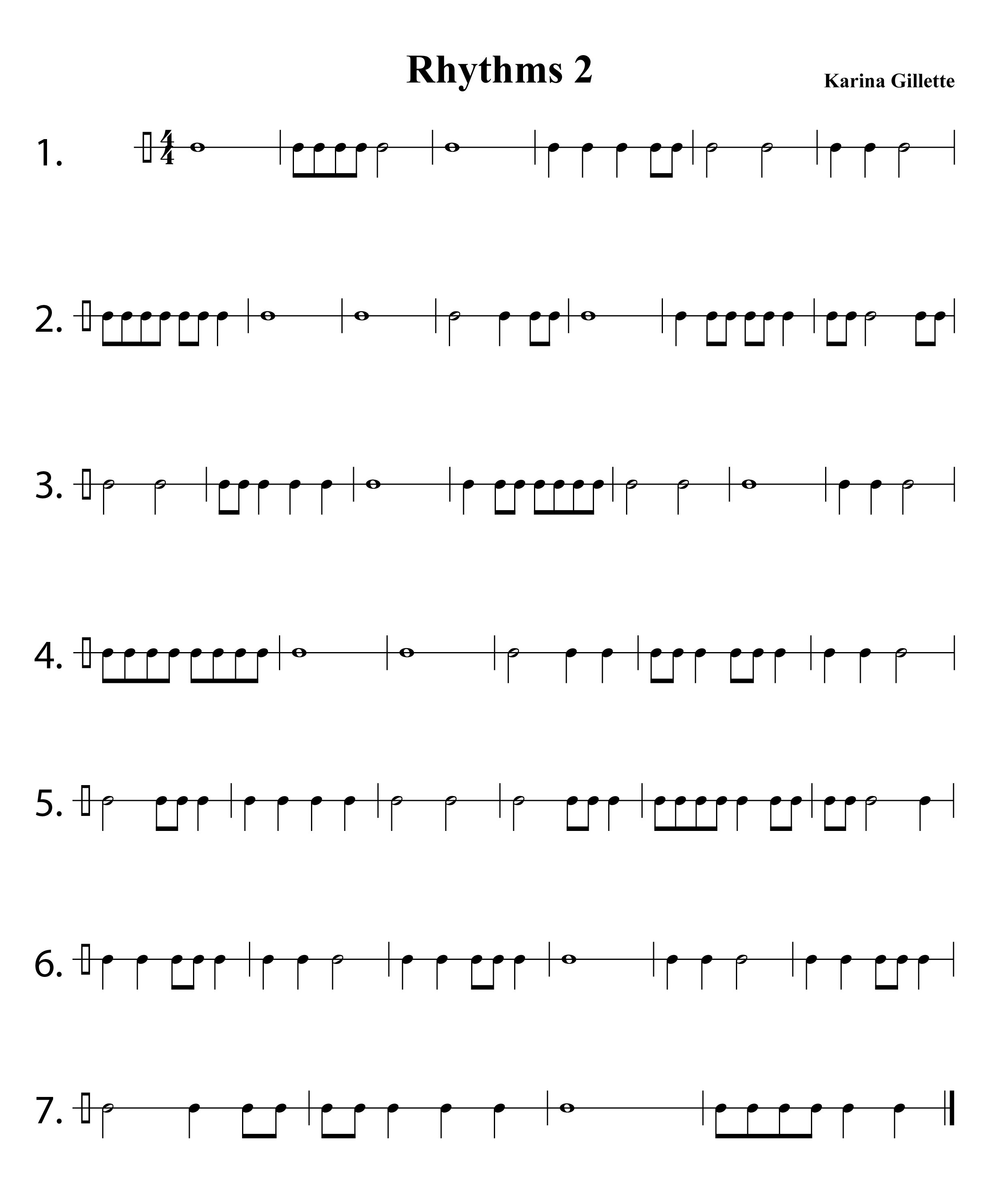 Counting Rhythms Worksheets
