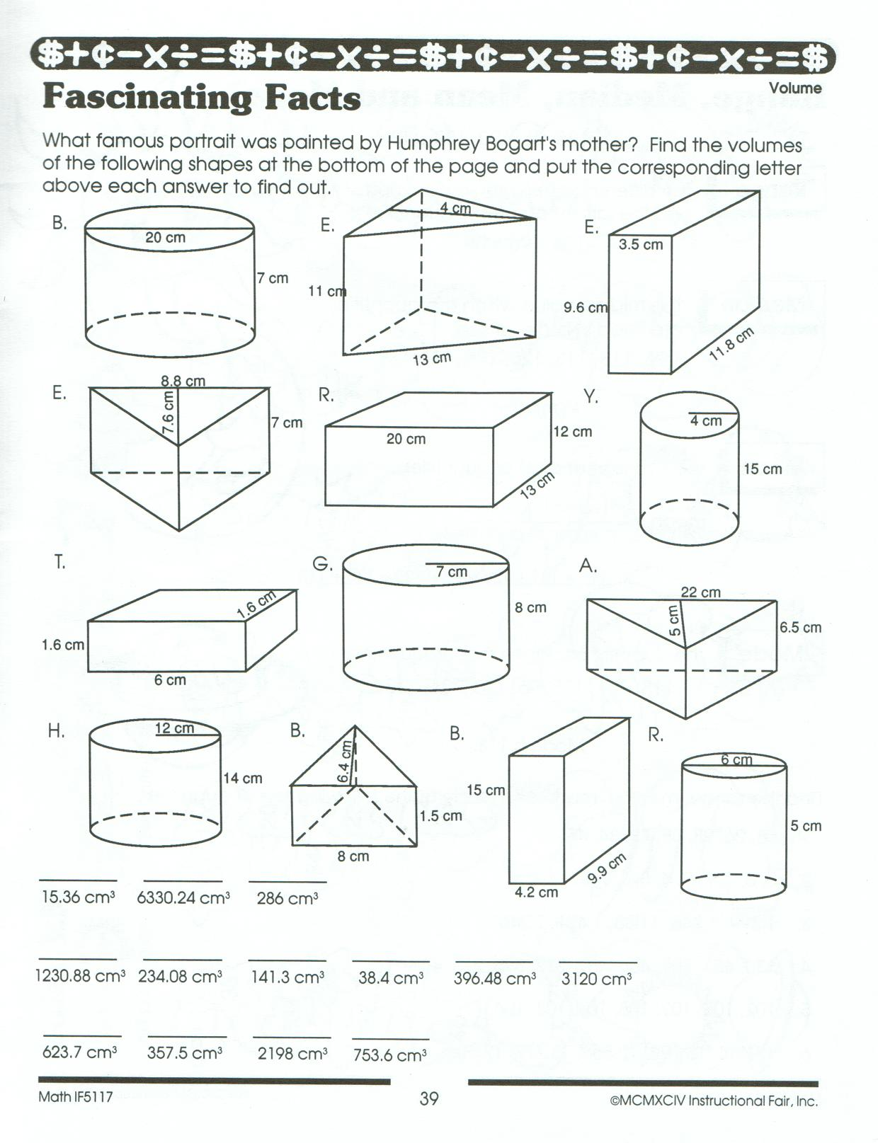 Surface Area Practice Worksheet The Best Worksheets Image