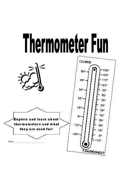 Thermometer Worksheets Kindergarten