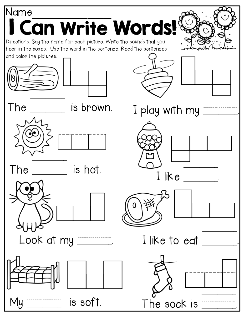 Collection Of Free Kindergarten Writing Sentences