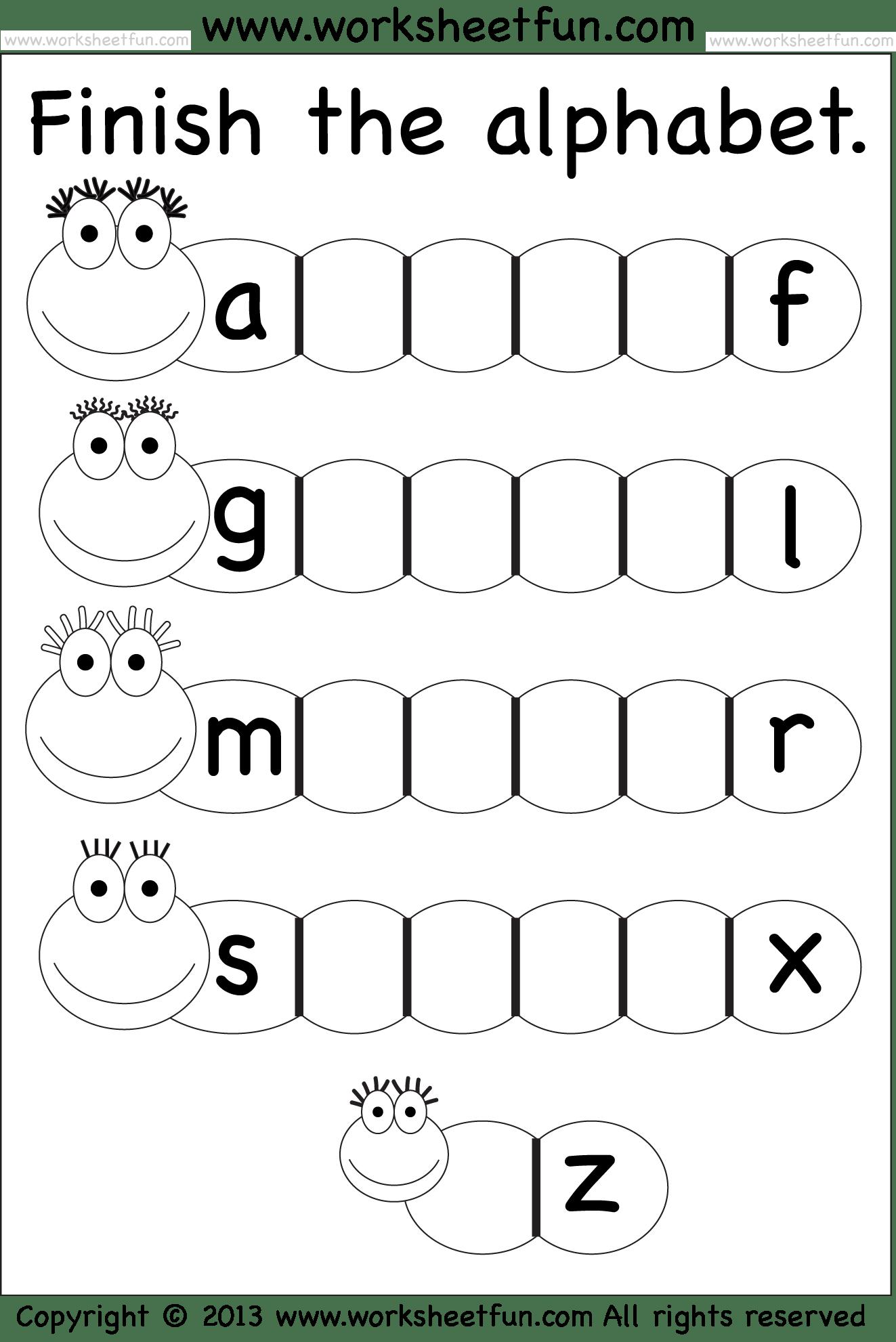 Worksheets On Alphabets