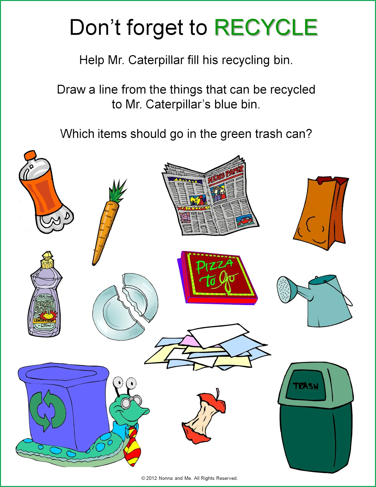 Pollution Worksheets For Kindergarten