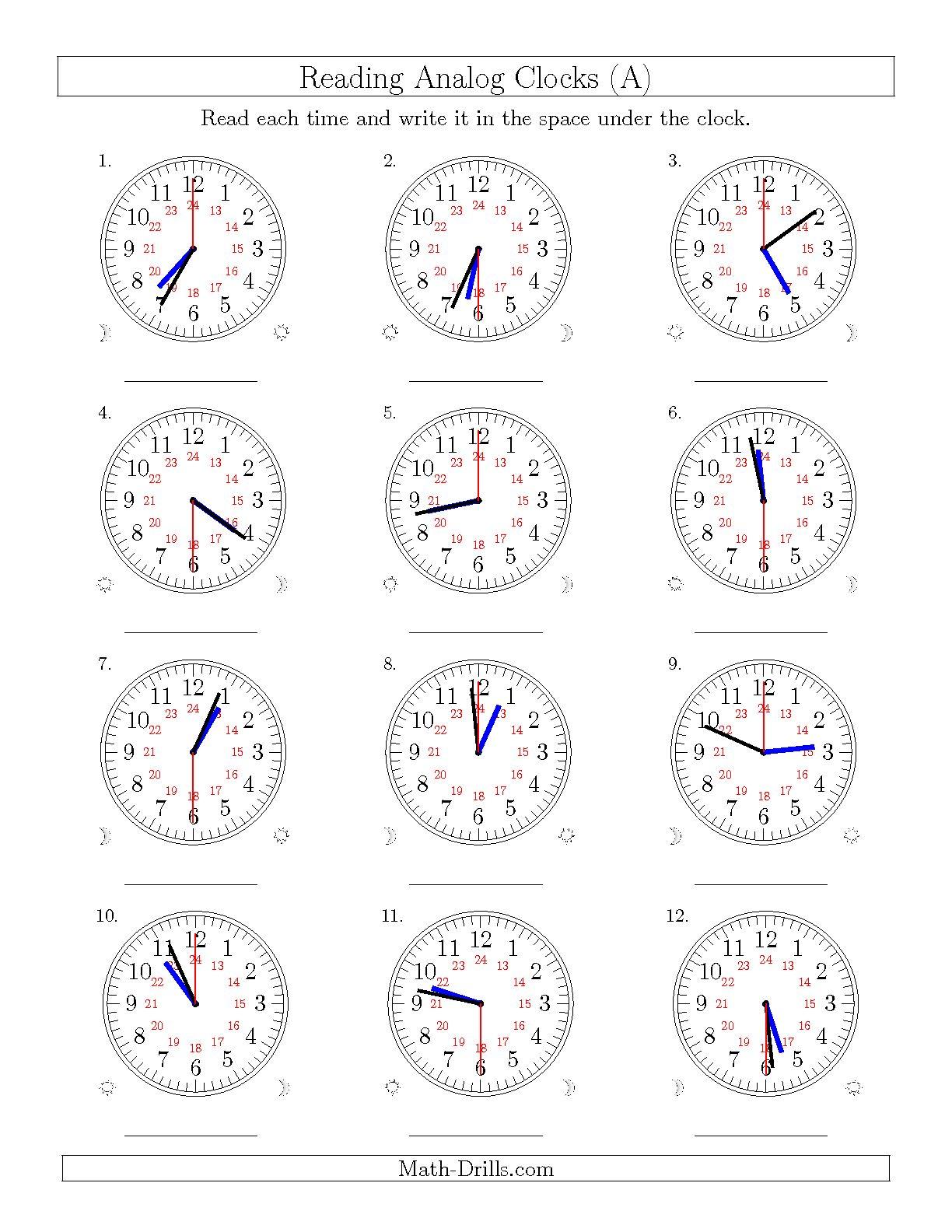 Math Worksheet 24 Hour Time Free Worksheets Samples