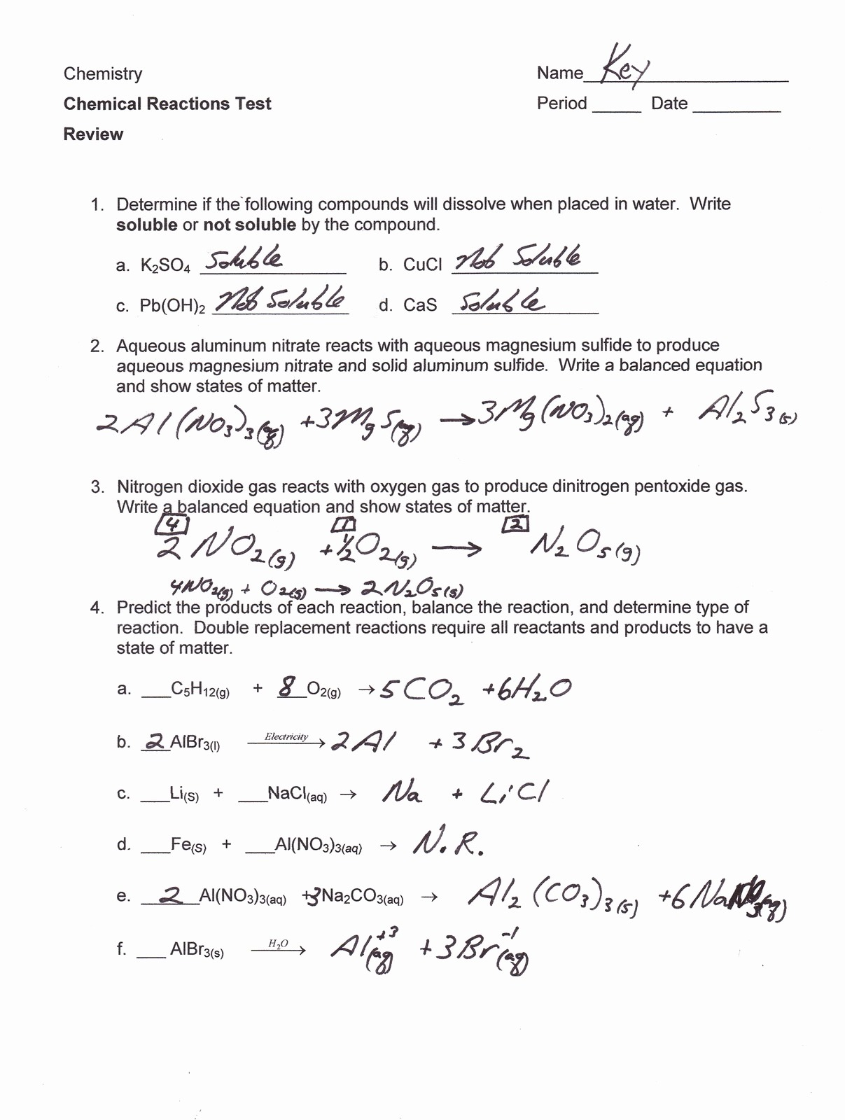 Worksheet 5 Double Replacement Reactions Free Worksheets