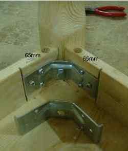 Tafelpoot/ regel verbinder h 70mm