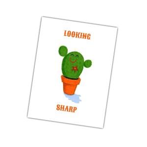 vrolijke kaarten zoals looking Sharp met cactus