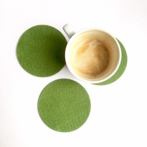 stijlvol groen in jouw interieur met deze handgemaakte onderzetters