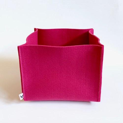 grote roze mand van wasbaar duurzaam vilt
