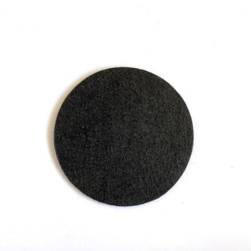 mooi zwarte vilten onderzetter wasbaar op 40 graden