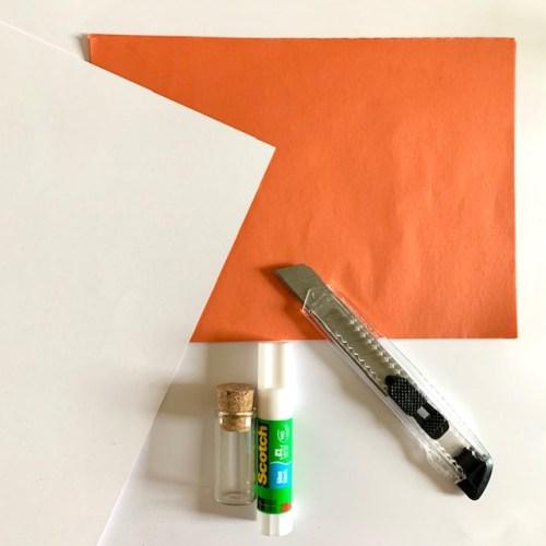 zelf honingraat papier maken met oranje vloeipapier