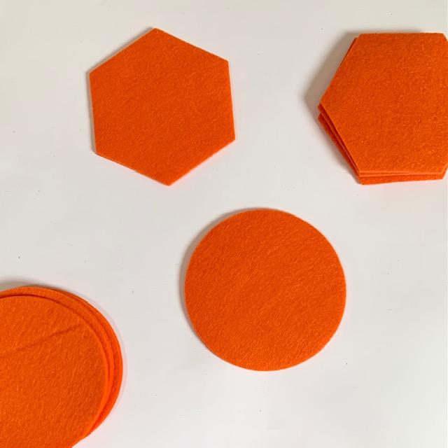 nieuwe kleur oranje voor alle vilten items binnenkort beschikbaar