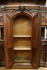 Monumental walnut Henri II castle cabinet - Cabinets ...