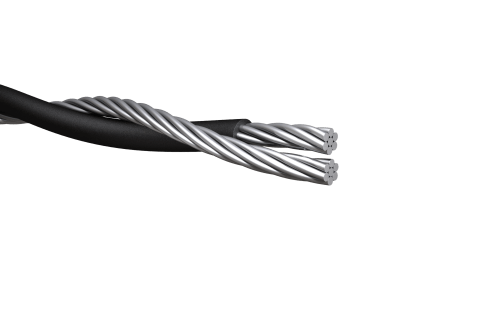 small resolution of duplex service drop cable