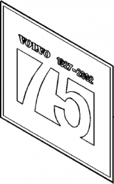 Emblem Logo 75-Års Jubileums-Emblem Volvo V70, XC70, S40