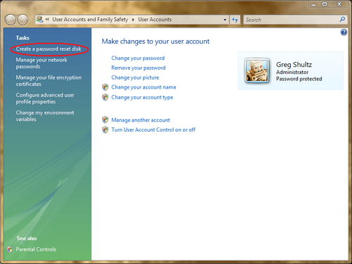 how to use a password reset disk