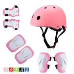 Pink Kids Helmet Set