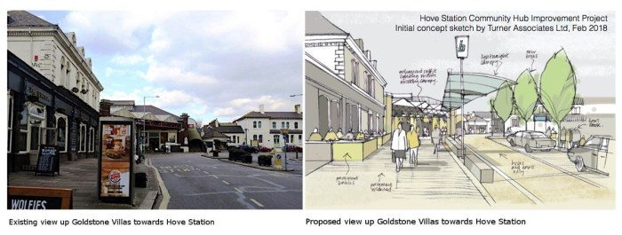 Hove Station approach Concept Sketch by Turner Associates