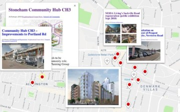 hove development news by location map