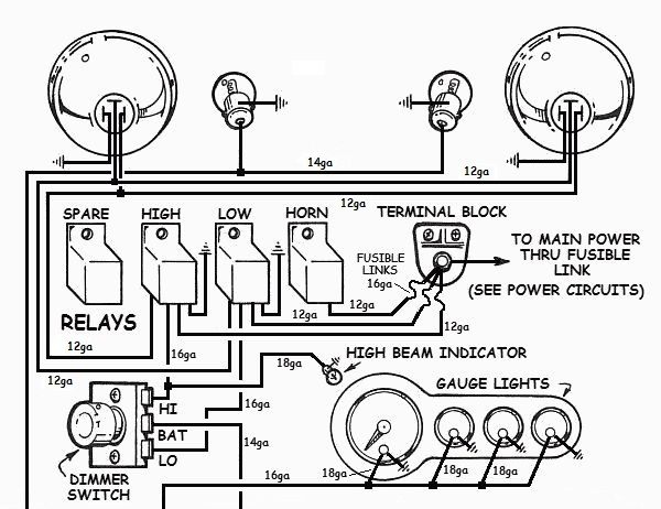 Basic Street Rod Ignition Switch Wiring Diagram Ford Relay Wiring