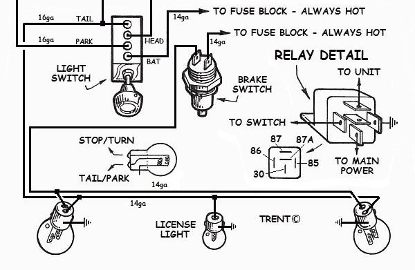 hot rod headlight wiring diagram simple atom how to wire up lights in your hotrod!
