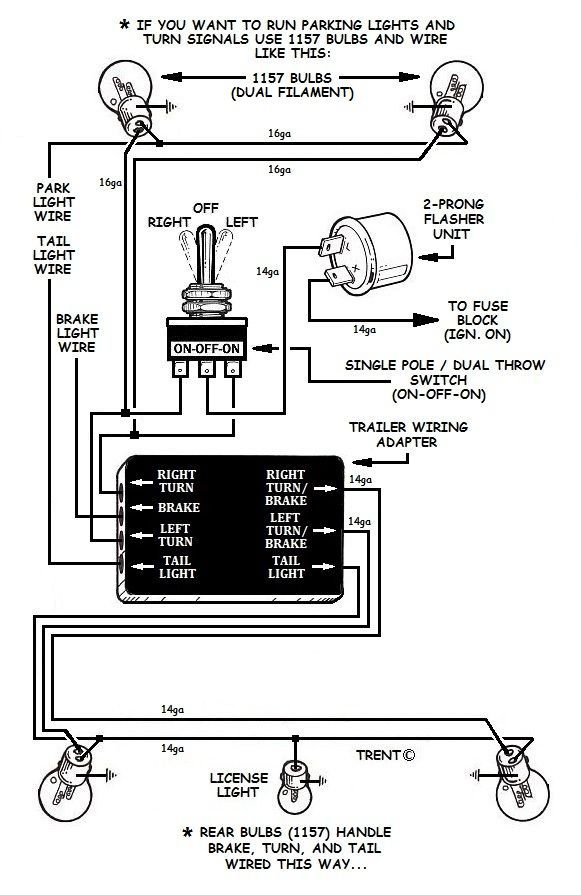led flasher unit wiring diagram for car alternator how to add turn signals and wire them up