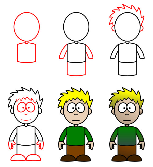 draw cartoon characters with