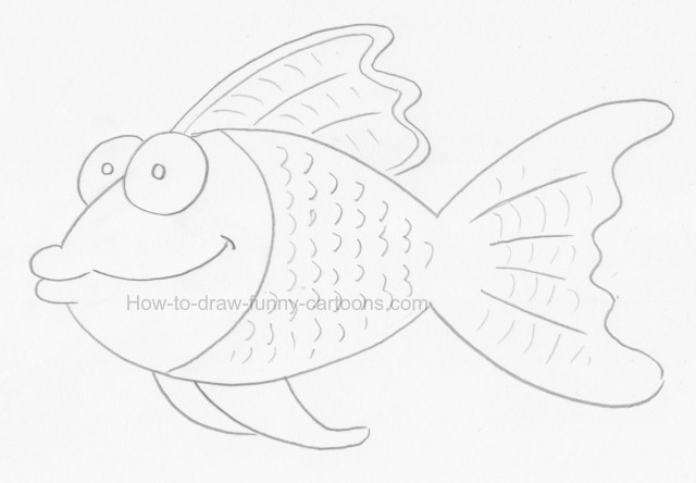 How to create fish drawings