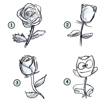how to draw a realistic rose