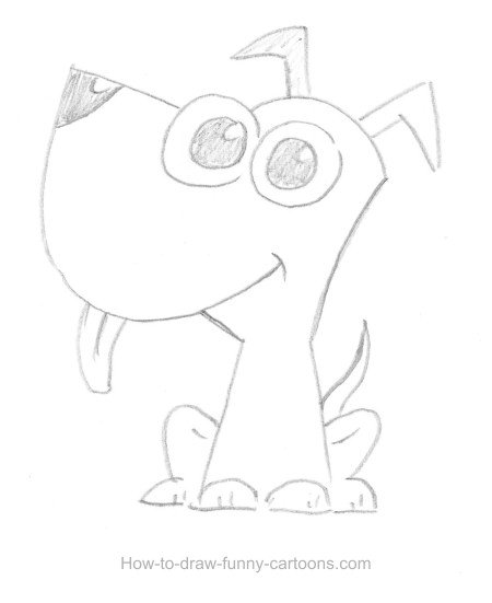 Puppy drawing (Sketching + vector)