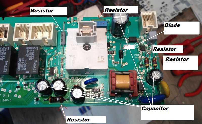 Whirlpool Tachometer Wiring Diagram Printed Circuit Board Repairs For Tumble Dryers Aeg