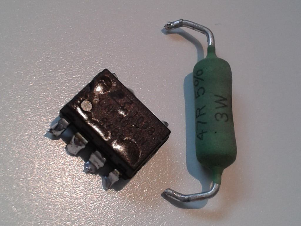 blown link Switch LNK 304GN and 47R Resistor