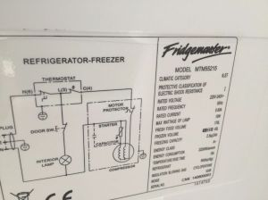 How to find your FridgeFreezer model number