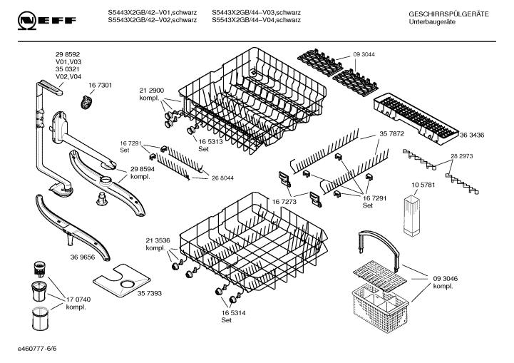 Neff Dishwasher S5443X2 GB/44