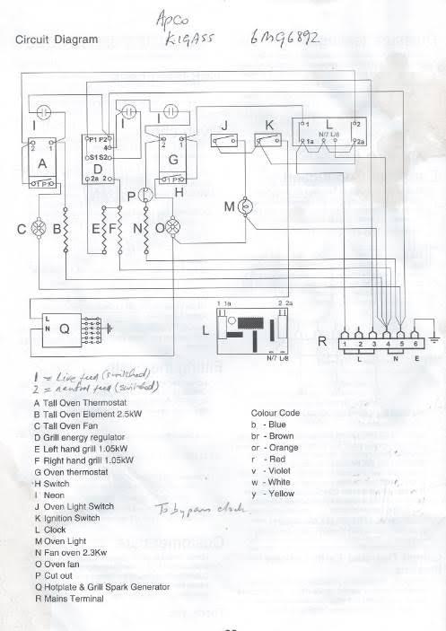 belling oven wiring diagram weathering and erosion venn leisure range cooker - data set