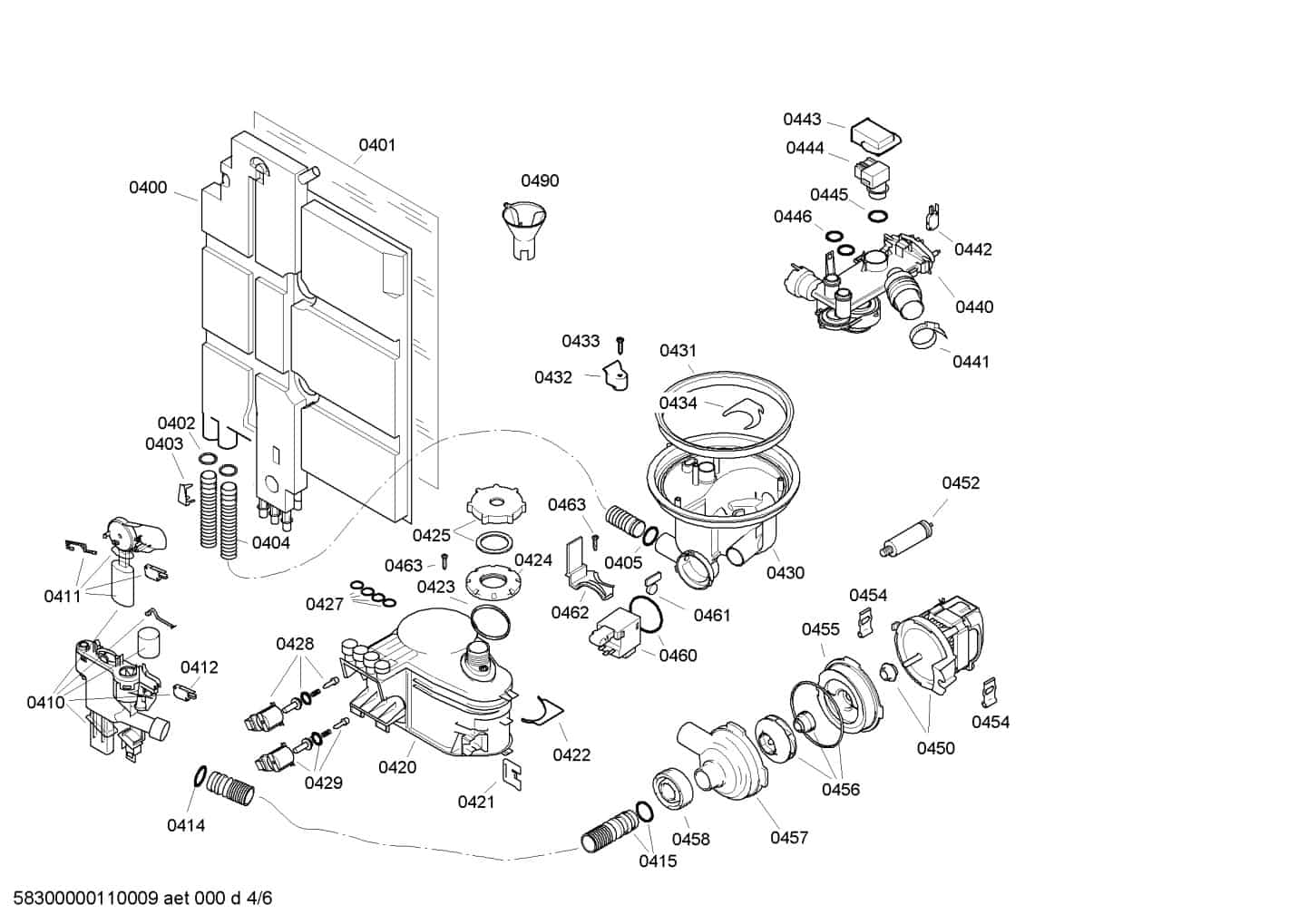 Neff Dishwasher Parts Diagram
