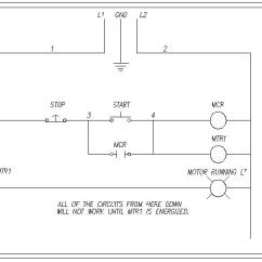 Start Stop Wiring Diagram True Tuc 27f Three Wire 3 Ladder Detailedhow To A Relay Motor Starter