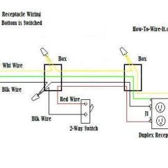 Wiring A Switched Outlet Diagram Diagrams For Light Switch Wire An One Receptacle