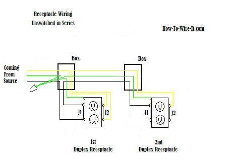 wiring a switched outlet diagram old ruud heat pump wire an receptacle in series