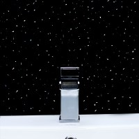Black & White Sparkle PVC Bathroom Wet Wall Cladding ...