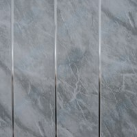 Travertine or Grey Marble with Twin Chrome Strip Bathroom ...